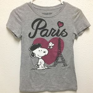 Peanuts Gray 60% cotton 40% polyester short sleeve